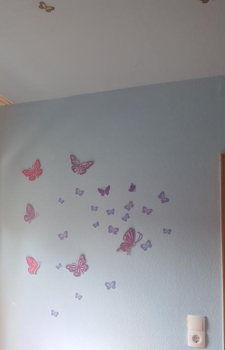 2 St/ücke H137 x B117cm,Gardinen mit /Ösen Verdunkelungsvorhang f/ür Schlafzimmer Bedrucken Vorh/änge f/ür M/ädchen Kinderzimmer Babyzimmer,Schmetterling Blume,Blickdicht Vorhang